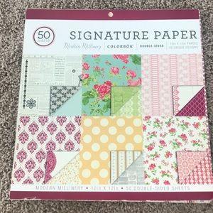 Signature Paper | Modern Millinery | 12x12 Pad